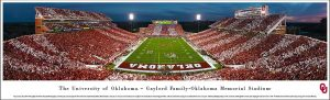 Oklahoma Sooner Memorial Stadium Print