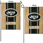 New York Jets Burlap Garden Flag