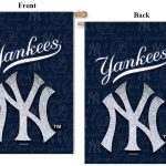 NEW YORK YANKEES GLITTER DOUBLE-SIDED SUEDE HOUSE FLAG