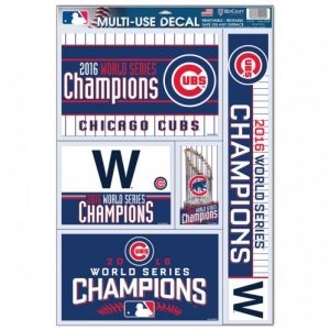Chicago Cubs World Series Decal Sheet