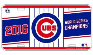 Chicago Cubs World Series License Plate