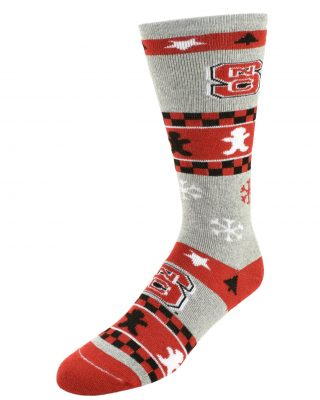 NC State Christmas Socks