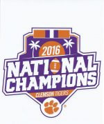 2016 Clemson National Championship Decal
