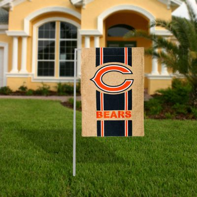 Chicago Bears Burlap Garden Flag