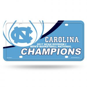 North Carolina Tar Heels National Championship License Plate