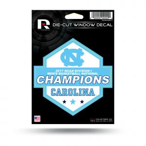 North Carolina Tar Heels National Championship Decal