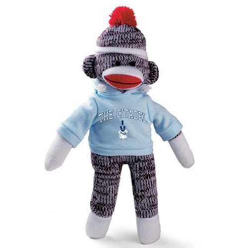 Citadel Bulldogs Sock Monkey