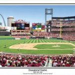 Busch Stadium Inaugural Game Panoramic Print