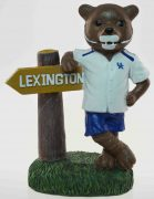 Kentucky Wildcats Mascot with Sign