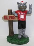 NC State Mascot With Sign