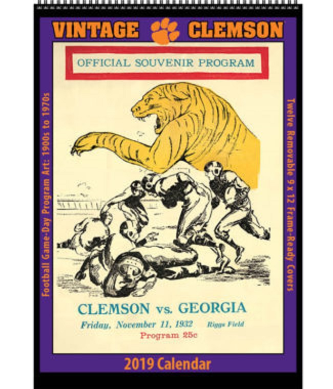 Clemson Calendar 2019 2019 Vintage Clemson Tigers Football Calendar   We're Good Sports