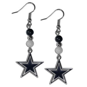 Beaded Dallas Cowboys Earrings