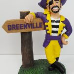 East Carolina Pirates Mascot with Sign
