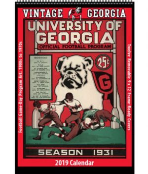 2019 Vintage Georgia Bulldogs Football Calendar