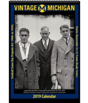 2019 Vintage Michigan Wolverines Football Calendar