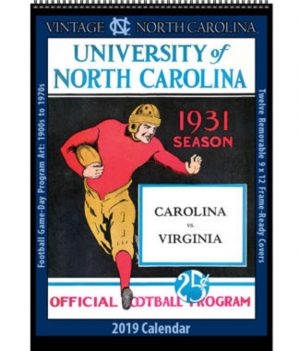2019 Vintage North Carolina Tar Heels Calendar