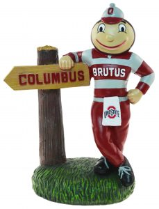 Ohio State Mascot with Sign