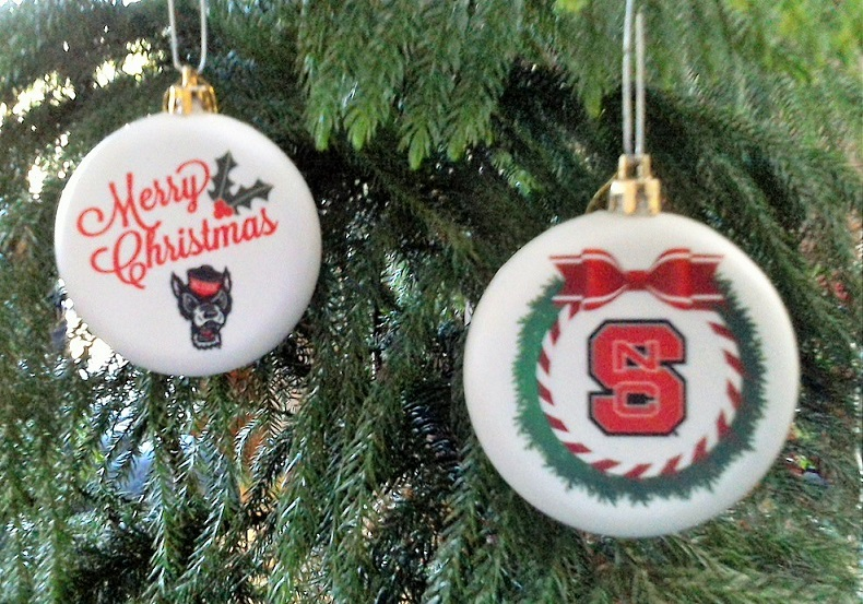 NC State Christmas Ornaments