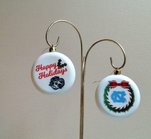 North Carolina Tar Heels Christmas Ornaments
