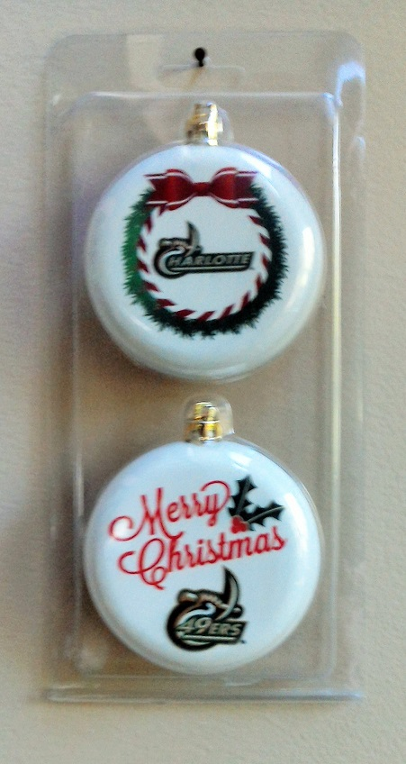 UNC Charlotte Christmas Ornaments