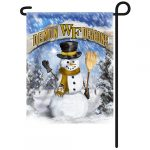 Wake Forest Snowman Garden Flag