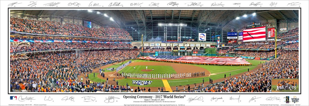 Houston Astros 2017 World Series Opening Day Panoramic Print