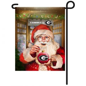 Georgia Bulldogs Christmas Garden Flag