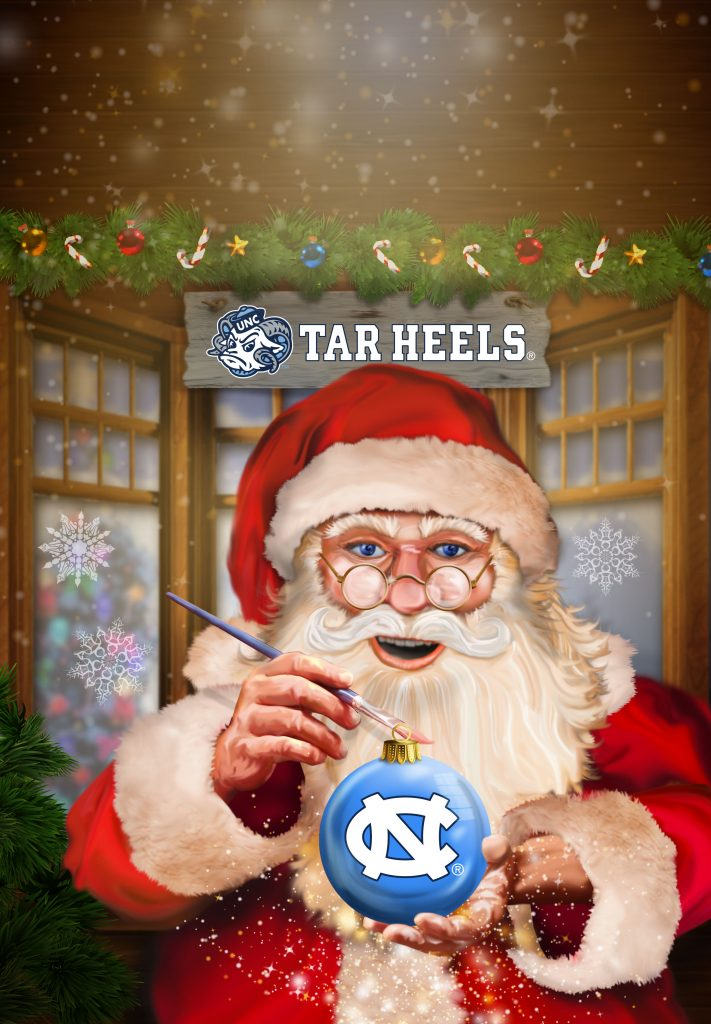 North Carolina Tar Heels Christmas Garden Flag