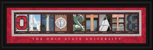 Ohio State Campus Letter Art