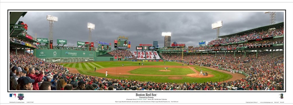 Farewell at Fenway Panoramic Print