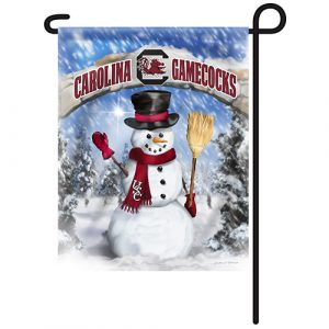 South Carolina Gamecocks Snowman Garden Flag
