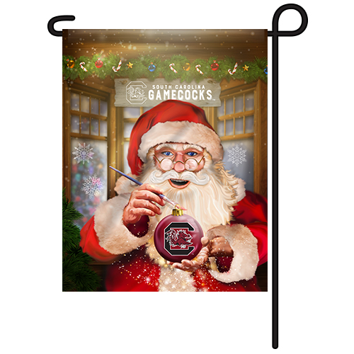 South Carolina Gamecocks Christmas Garden Flag