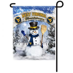 West Virginia Mountaineers Snowman Garden Flag
