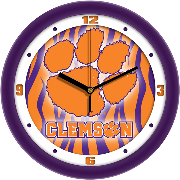 Clemson Tigers Wall Clock