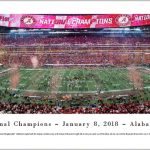 2017 Alabama Football National Championship Print