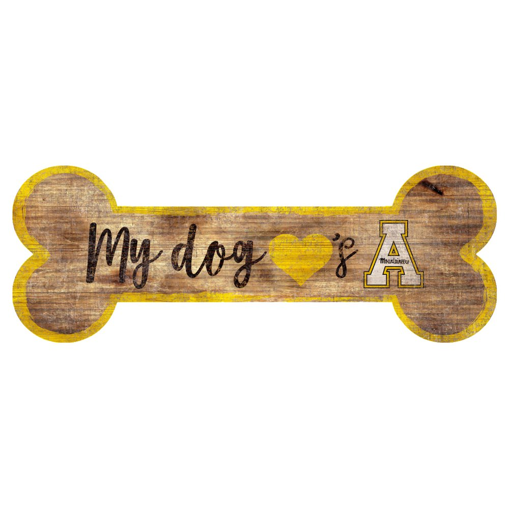Appalachian State Mountaineers Dog Bone Sign
