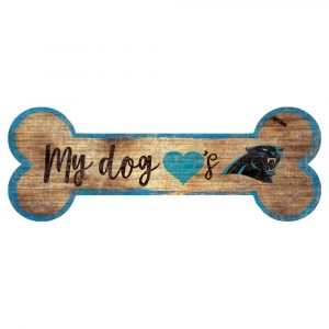 Carolina Panthers Dog Bone Sign