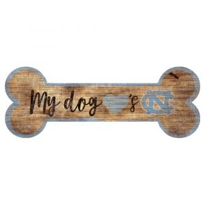 North Carolina Tar Heels Dog Bone Sign