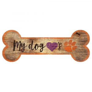 Clemson Tigers Dog Bone Sign