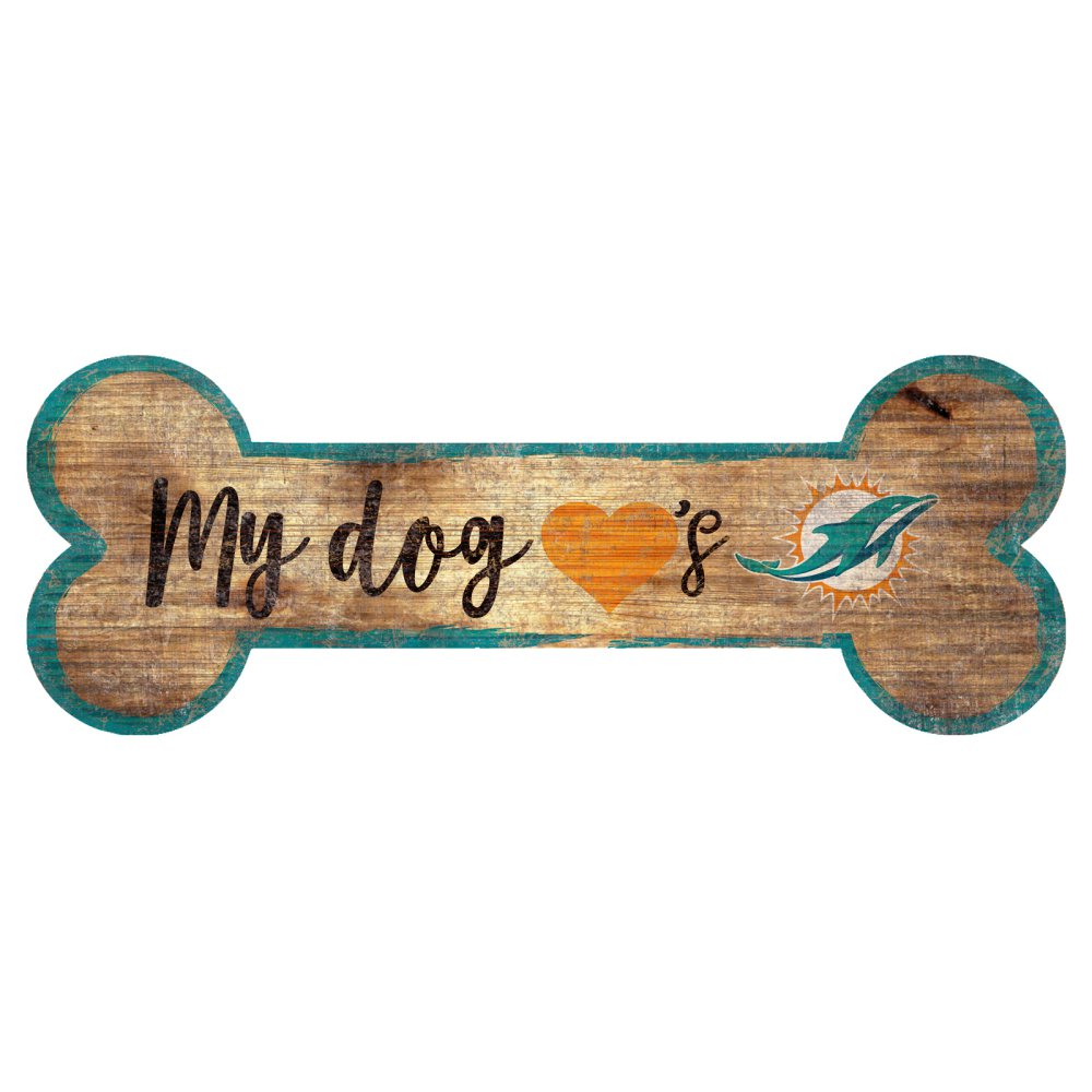 Miami Dolphins Dog Bone Sign