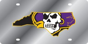 East Carolina Pirates State Shape License Plate