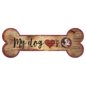 Florida State Seminoles Dog Bone Sign