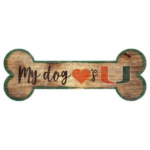 Miami Hurricanes Dog Bone Sign