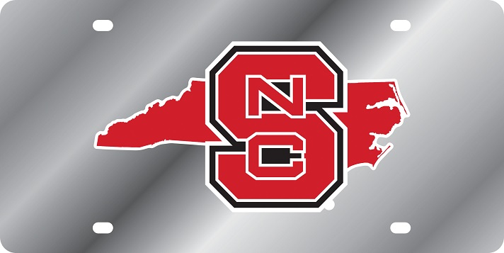 NC State Wolfpack State Shape License Plate