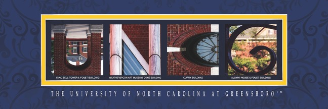 UNC Greensboro Campus Letter Art