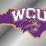 Western Carolina Catamounts State Shape License Plate