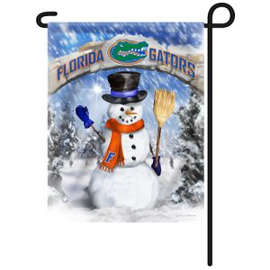 Florida Gators Snowman Garden Flag