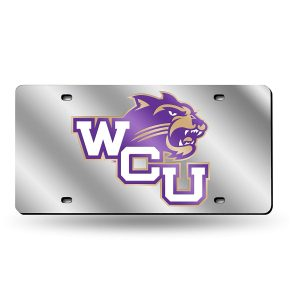 Western Carolina Mirrored License Plate