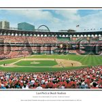 Last Pitch at Busch Stadium Panoramic Print