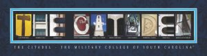 The Citadel Campus Letter Art
